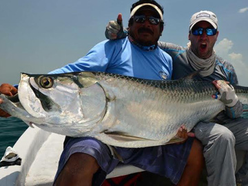 Giant Tarpon Fishing in Holbox
